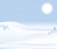 De achtergrond van de de dagsneeuw van de winter Royalty-vrije Stock Afbeeldingen