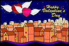 De achtergrond van de de Dagviering van gelukkig Valentine Stock Afbeelding