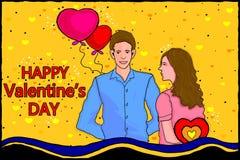 De achtergrond van de de Dagviering van gelukkig Valentine Stock Afbeeldingen