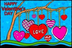 De achtergrond van de de Dagviering van gelukkig Valentine Royalty-vrije Stock Afbeeldingen