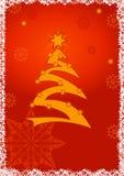 De achtergrond van de de groetkaart van Kerstmis Stock Foto