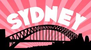 De achtergrond van de de havenbrug van Sydney Stock Foto