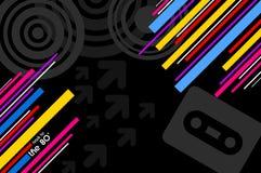 de achtergrond van de de jaren '80popmuziek Stock Afbeeldingen