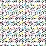 De achtergrond van de de kleurenfiets van het ontwerppatroon Stock Afbeeldingen