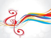 De achtergrond van de de muzieknota van de regenboog Stock Fotografie