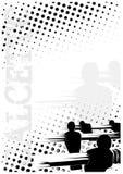 De achtergrond van de de puntenaffiche van Calcetto royalty-vrije illustratie