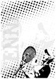 De achtergrond van de de puntenaffiche van het tennis vector illustratie