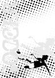 De achtergrond van de de puntenaffiche van het voetbal vector illustratie