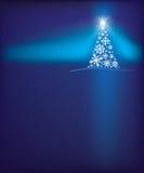 De achtergrond van de de sneeuwvlokboom van Kerstmis Royalty-vrije Stock Afbeelding