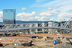 De achtergrond van de de stadsbrug van Oslo Royalty-vrije Stock Foto's