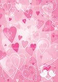 De achtergrond van de de valentijnskaartendag van het hart stock illustratie