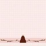 De achtergrond van de de verjaardagscake van de chocolade vector illustratie