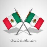 De achtergrond van de de Vlagdag van Mexico Stock Afbeeldingen