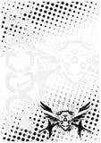 De achtergrond van de de vleugelsaffiche van het voetbal vector illustratie