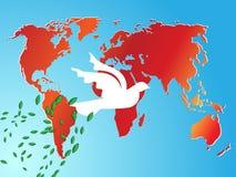 De achtergrond van de de vredesduif van de wereld Stock Afbeeldingen
