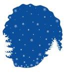 De achtergrond van de de winternacht stock illustratie