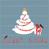 De achtergrond van de de winterprentbriefkaar Stock Foto