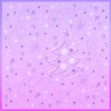 De achtergrond van de de wintervakantie royalty-vrije illustratie