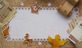 De achtergrond van de de wintervakantie Stock Fotografie