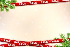 De achtergrond van de de winterverkoop Royalty-vrije Stock Foto