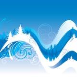 De achtergrond van de de winterwerveling royalty-vrije illustratie