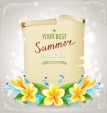 De achtergrond van de de zomertijd Royalty-vrije Stock Afbeelding