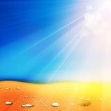 De achtergrond van de de zomertijd vector illustratie