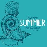 De achtergrond van de de zomervakantie Royalty-vrije Stock Afbeeldingen