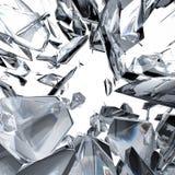 De achtergrond van de diamantbreking Stock Fotografie