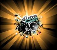 De Achtergrond van de Disco van de muziek Stock Afbeeldingen