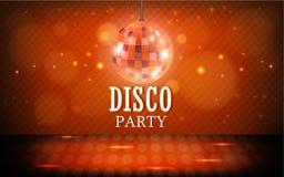 De achtergrond van de discobal Stock Fotografie