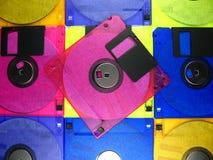 De achtergrond van de diskette Stock Foto