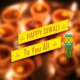 De achtergrond van de Diwalivakantie Stock Foto's