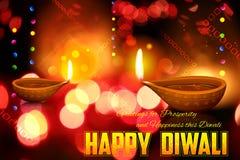 De achtergrond van de Diwalivakantie Royalty-vrije Stock Fotografie