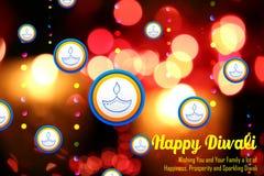 De achtergrond van de Diwalivakantie Stock Foto