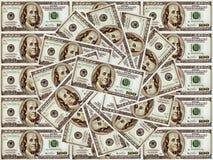 De achtergrond van de dollar. Stock Afbeelding