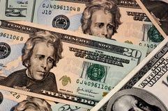 De achtergrond van de dollar Stock Afbeelding