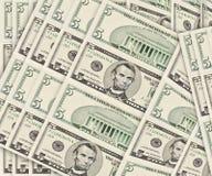 De achtergrond van de dollar Stock Foto