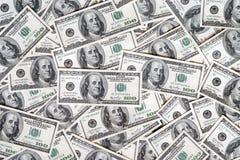 De achtergrond van de dollar Stock Fotografie