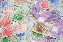 De achtergrond van de dollarrekeningen van Hongkong Stock Afbeelding