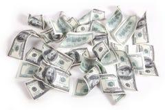 De achtergrond van de Dollars van het geld Stock Afbeeldingen