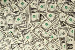 1 de achtergrond van de dollarsbankbiljetten van de V.S. Stock Afbeelding