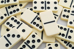 De achtergrond van de domino Royalty-vrije Stock Afbeeldingen