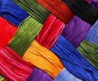 De Achtergrond van de Draad van het borduurwerk Stock Fotografie