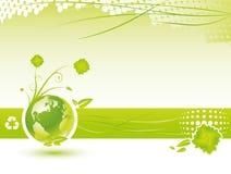 De achtergrond van de ecologie Stock Foto