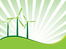 De achtergrond van de ecologie Stock Fotografie