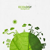 De achtergrond van de ecologie Royalty-vrije Stock Afbeelding