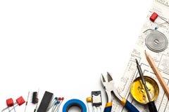 De achtergrond van de elektronika Stock Foto's