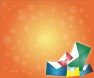De achtergrond van de envelop Royalty-vrije Stock Afbeeldingen