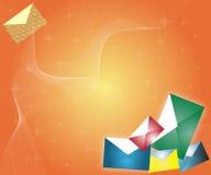 De achtergrond van de envelop Royalty-vrije Stock Fotografie